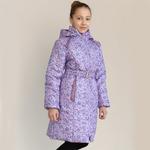 Пальто зимнее, модель ЗП66, цвет калейдоскоп_viola