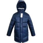 Куртка зимняя для девочки, модель ЗП18, цвет синий(cire)