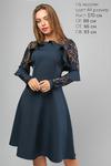 Элегантное Платье с гипюровым рукавом 3147 от LiPar