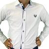 Рубашка для мальчика A-YUGI арт.18078 бело-синяя