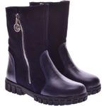 Подростковые ботинки с декором (байка/экомех/цигейка - на выбор)