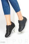 Кожаные кроссовки-сникерсы