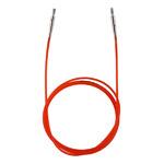 """10635 """"Knit Pro"""" Тросик (заглушки 2шт, ключик) для съемных спиц, длина 76см (готовая длина спиц 100см), красный"""