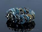 Браслет из перламутра кольцо с цирконом, цв.черный Артикул:11219905
