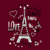 ТТФ  LOVE PARIS бел 19х25 см