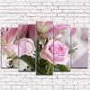 Модульная картина Нежная розовая лилия 5-1
