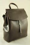 Рюкзак кожаный темно-коричневый