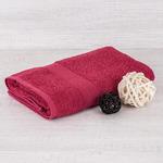 Полотенце махровое - бордовое