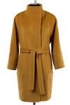 Пальто женское демисезонное(пояс) Микроворса Горчичный