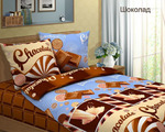 Постельное белье Шоколад (бязь), ЕВРО размер