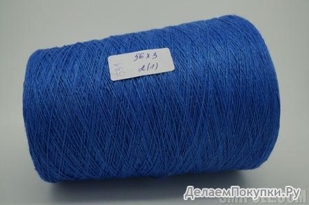 100% лен Siulas 600м/100г цвет 2(1)*3 синий колокольчик