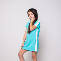 платье детское бирюзовое