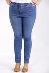 j-050   Синие простые джинсы по щиколотку
