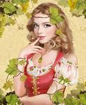 Картина по номерам Paintboy «блондинка в виноградных листьях»