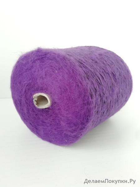 Мохер с пайетками фиолетовый