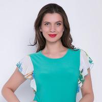 """Блузка """"Мия"""" (бирюза)"""
