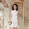 Платье Эдина б/р от Glem, цвет белый