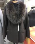 Короткое пальто с шалью  Код: 5054