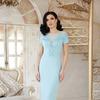 Платье Наоми к/р от Glem, цвета голубой, красный, персик