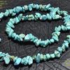 Колье из кусочков бирюзы,различной формы. КАМНИ НАТУРАЛ-KN800029