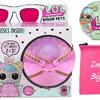 LOL Surprise Biggie Pets Bundle Includes (1) Hop Hop + (1) Let's Be Friends! Series 2 Doll + (5) Shopkins Glitter Stickers with Compatible Toy Storage Bag!