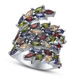 Серебряное кольцо Артикул: 01qrglg02443mix-19