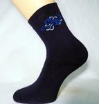 Женские махровые носки с рисунком