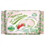 Зефир без глютена и без сахара «Умные сладости» со стевией «Клубника со сливками» 150г