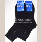 Ростекс носки мужские с лайкрой Премиум В-21ДС -черные.Упаковка 10 пар