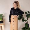 Кожаная юбка с пуговицами Подробнее: https://gepur.com/product/yubka-30234