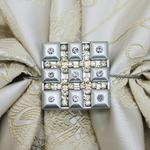 Магниты Серебряный со стразами 6,5 см
