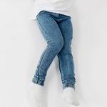 Леггинсы для девочки, джинсовые, синие