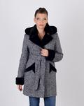 Пальто зимнее твид  Код: 5074