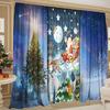 Комплект шторы + тюль Сказочный Санта Клаус