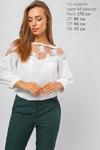 Блуза с ажурной кокеткой Белая