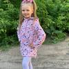 4781  Куртка для девочек на флисе удлиненная