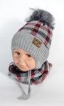 Комплект шапка и шарф 3-6 ЛЕТ  Зима (утепленная синтепоном) подклад х/б - лайкра Шерсть 50% - Акрил 50%