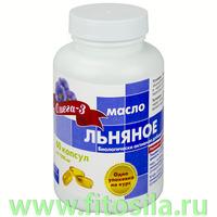 Льняное масло - БАД, № 60 капс. х 1г, банка
