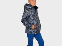 Куртка-ветровка для мальчика, модель В13х, цвет абстракция