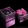 Подарочная упаковка под кольцо 50*50*35мм картон розовый. Артикул:12201056