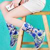 Дождевики для обуви с застежкой прозрачные с рисунком
