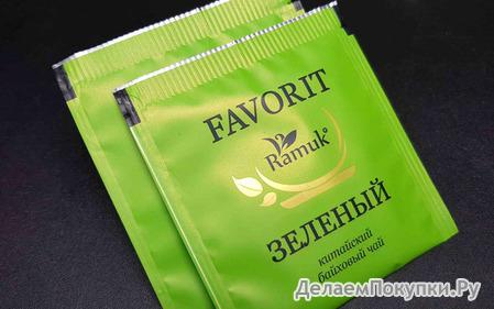 """Чай пакетир. ЗЕЛЁНЫЙ на чашку """"RAMUK"""" 200*1,5гх в конв. м/у фольга"""