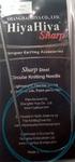Hiya-Hiya 32 Inch (80 cm) Circular Stainless Steel SHARP Knitting Needles