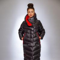 Женская куртка зимняя F 1376 графит