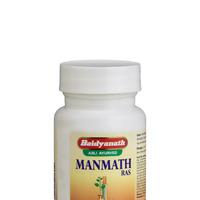 Манматх Рас, тоник для мужчин, 40 таб, производитель Байдьянатх, Manmath Ras, 40 tabs, Baidyanath