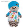 Мягкая игрушка «Басик» в футболке «космос» и в шапочке, 30 см