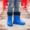 Детские резиновые сапоги Нордман Jet (ЕВА)  синие с флисовым утеплителем