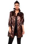 Женская куртка 3/4 рукав металлизированная отделка