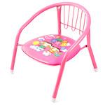 """Кресло детское """"Забава"""" 27х27см h35см металлический каркас окрашенный-розовый, мягкое сиденье кожзам с пищалкой (h без спинки-17см; д/трубы-1,8см)"""