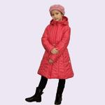 Демисезонное пальто для девочки П008, цвет розовый(cire), рост 122-158
